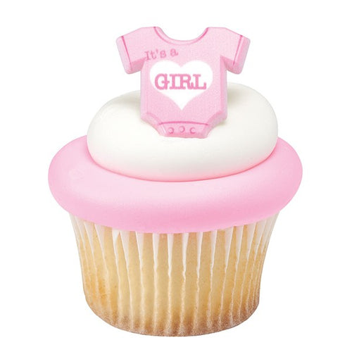 Its a Girl Cupcake Ring