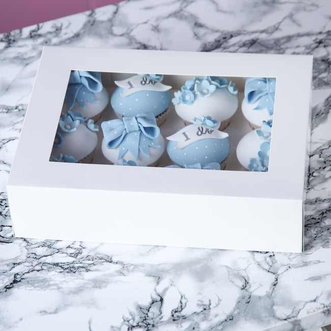 White Cupcake box for 12 Cupcakes