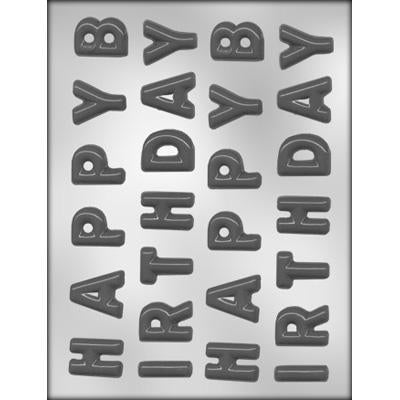 "Alphabet Letters 1 1/4"" Chocolate Mould"