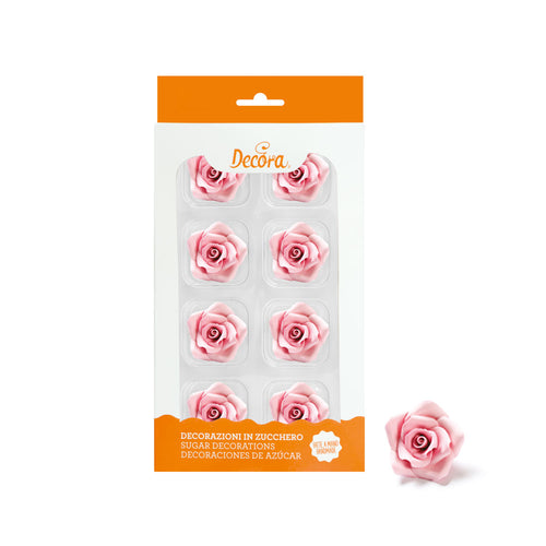 Pink Medium Rose Set 8