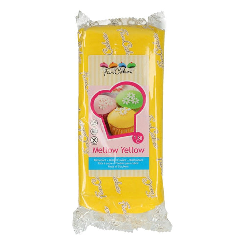 FunCakes Sugar Paste 1kg Mellow Yellow