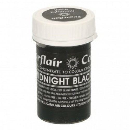 Midnight black SugarFlair Gel paste