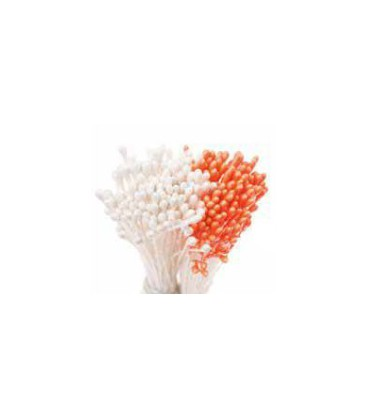 Pearl Orange/ Pearl White Stamens 288pcs