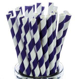 PURPLE STRIPE  Straws Pk 25