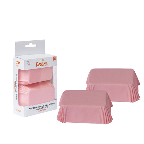 Pale Pink  Mini Loaf Tin Liners Pk  36