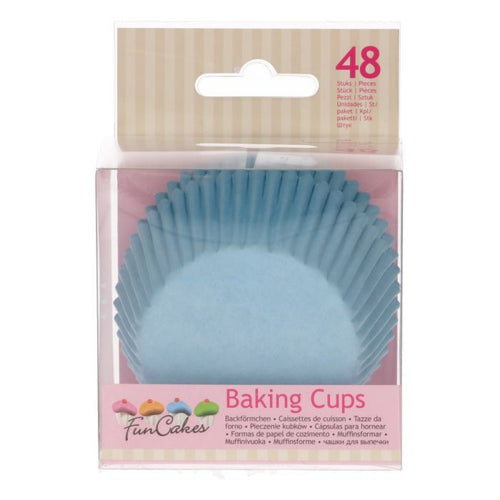 Pale Blue Baking Cup Pk 48