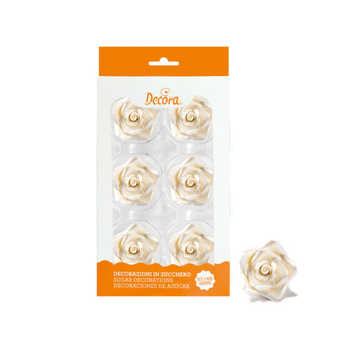 Pearl Large Rose Set 6 5cm