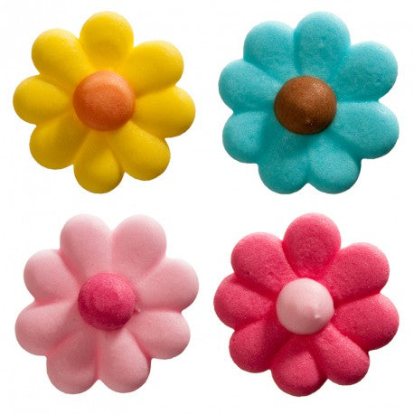 Piped Daisy Flowers Assorted 30Pcs