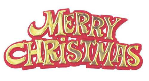 Gold Merry Christmas Sign Pk 100