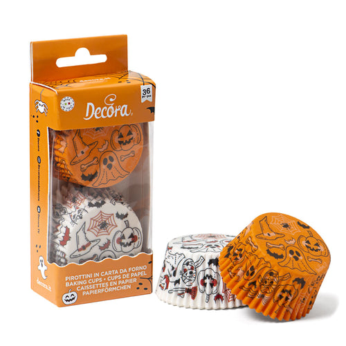 Pumpkin and Ghost  Baking Cases Pk 36