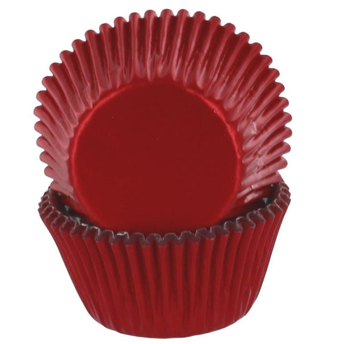 Red Foil   Cupcake Cases Pk 50