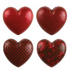 Red Heart Chocolate Cake Decorations Pk 28