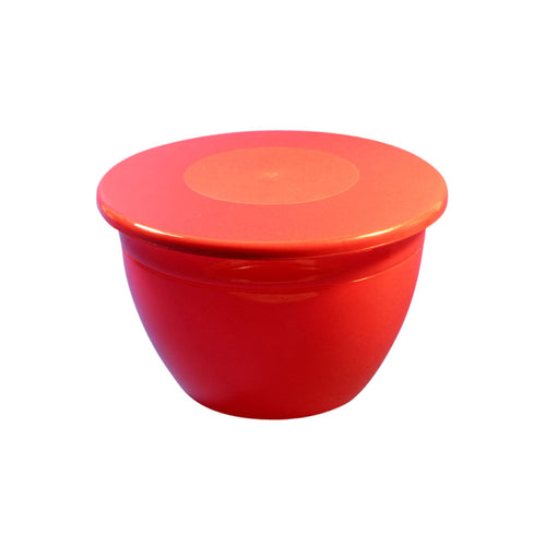 1 lb Red Pudding Bowl with Lid