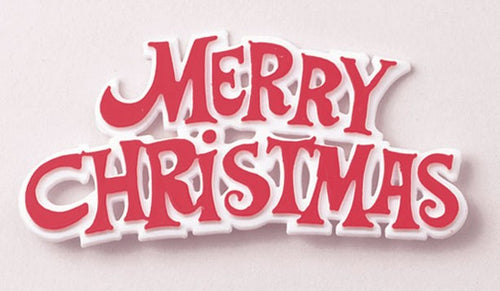 Red Merry Christmas Sign Pk 100
