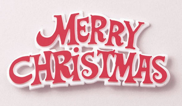 Red Merry Christmas Sign Each