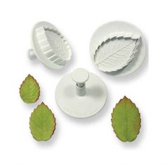 Veined  Rose Leaf Plunger Cutter Set 3  PME
