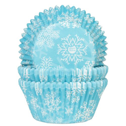 Snow Crystal Blue Baking Cases Pk 50 HOM