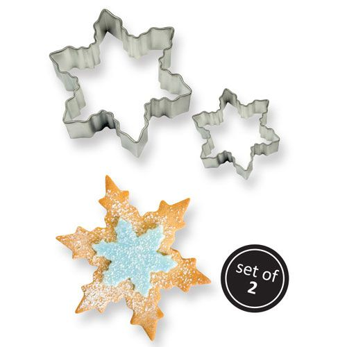 Snowflake  Cookie Cutter Set 2 PME