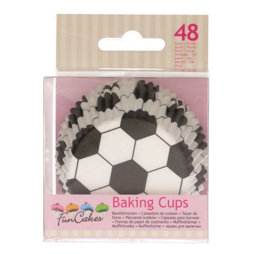 Soccer  Baking Cup Pk 48