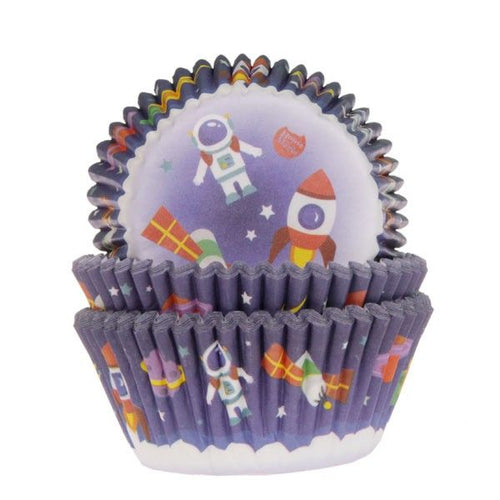 Space Cupcake Cases Pk 50 HOM
