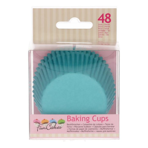 Turquoise  Baking Cup Pk 48