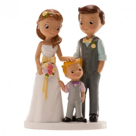 Wedding Couple with Boy 16cm