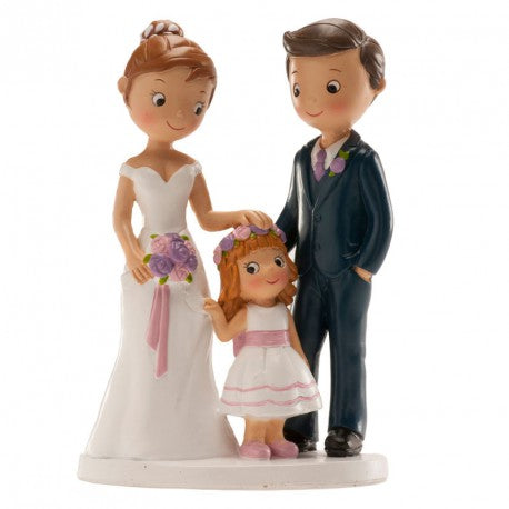 Wedding Couple with Girl 16cm