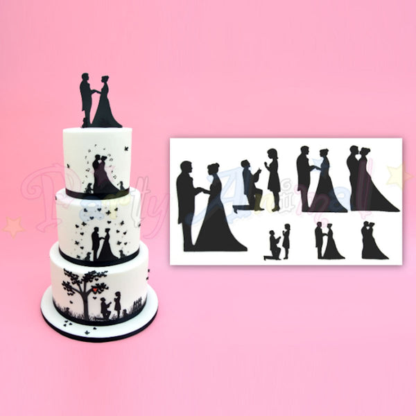 Wedding Silhouette Cutter PATCHWORK CUTTERS