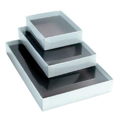 White Box Clear Lid  1lb