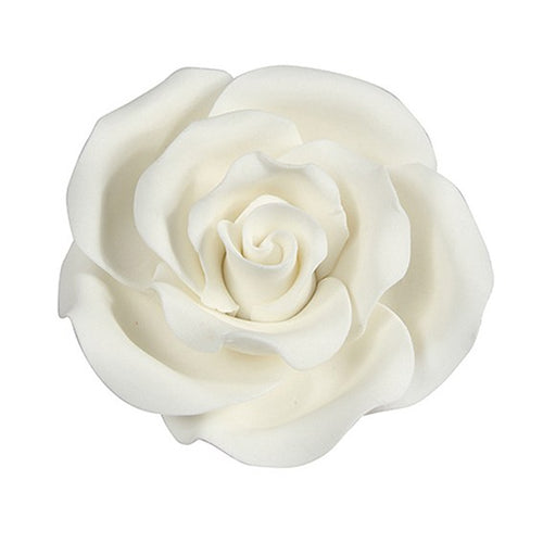 Sugar Rose  White  50 mm (10pcs)
