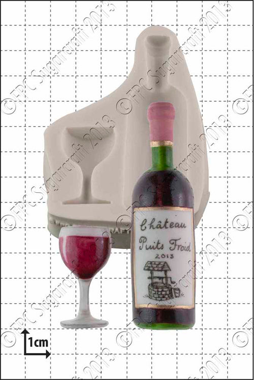 Wine Bottle and Glass Mould FPC C158