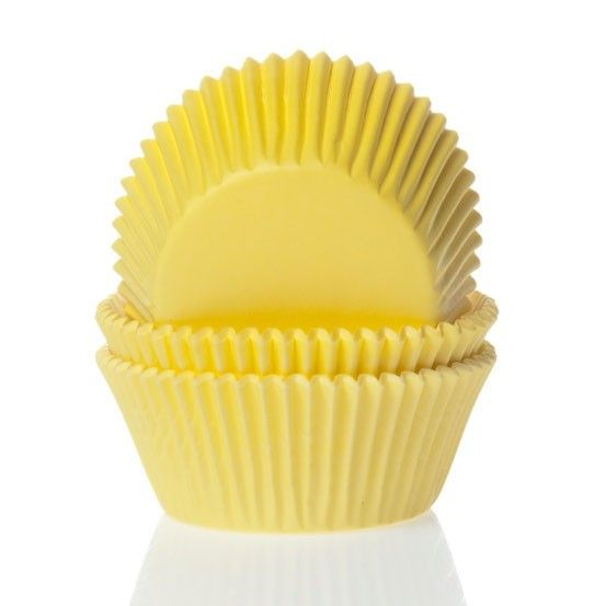 Mini Cupcake Cases 60pk Yellow