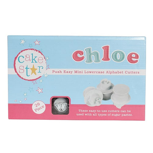 Cake Star Push Easy Mini Lowercase Cutters