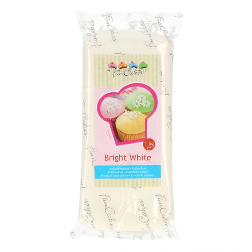 FunCakes Sugar Paste 1kg Bright White
