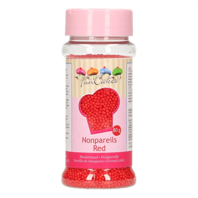 FunCakes Nonpareils 80g Red