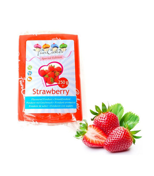 FunCakes Flavoured Sugar Paste Strawberry   250g