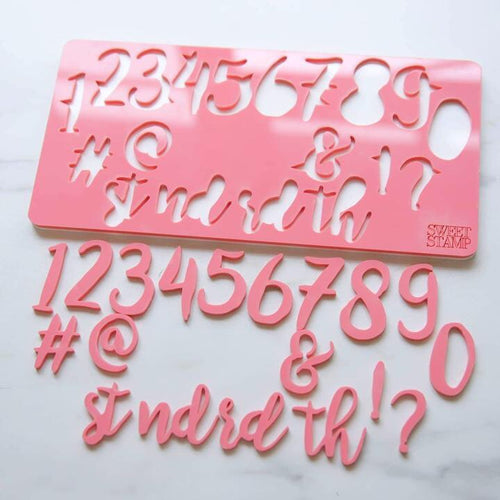 Stylish SWEET STAMP Numbers & Symbols
