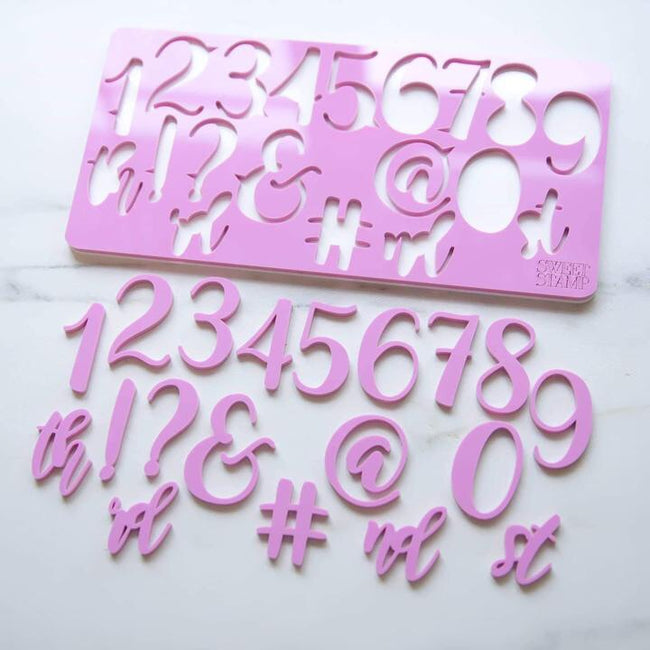 Elegant SWEET STAMP Numbers& Symbols