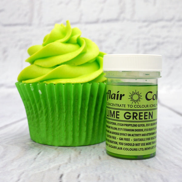 Lime Green SugarFlair Gel paste