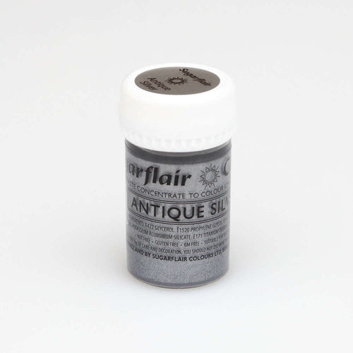 Antique Silver SugarFlair Gel paste