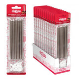 Silver Extra Tall Candles Metallic 16pk
