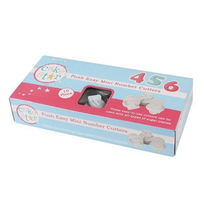 Cake Star Push Easy Mini Number Cutters
