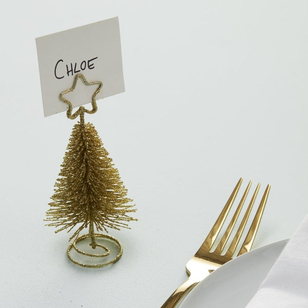 Gold Tree Place Card Holders