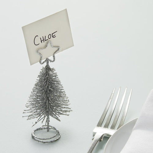 Silver Tree Place Card Holders