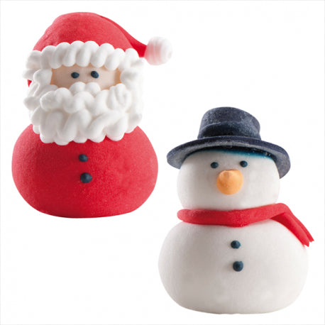 Sugar Santas and Snowmen DEKORA