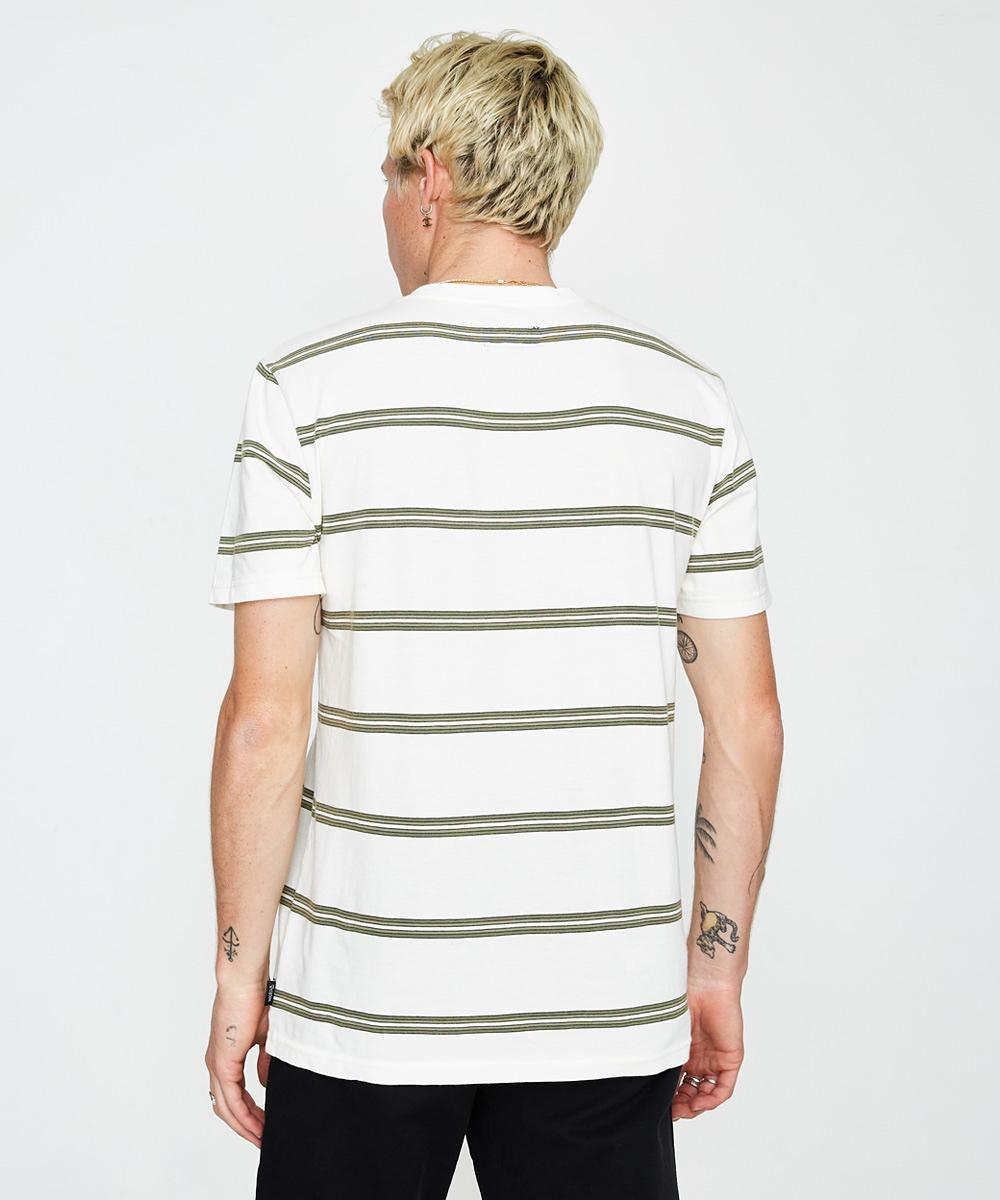 Hilt Washed Short Sleeve Pocket T-Shirt - Off White/Pine