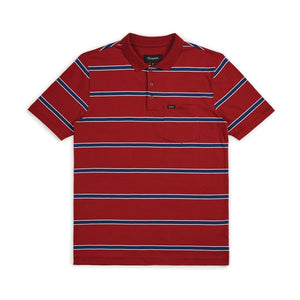HILT WASHED POLO S/S POLO- Burgundy/Navy