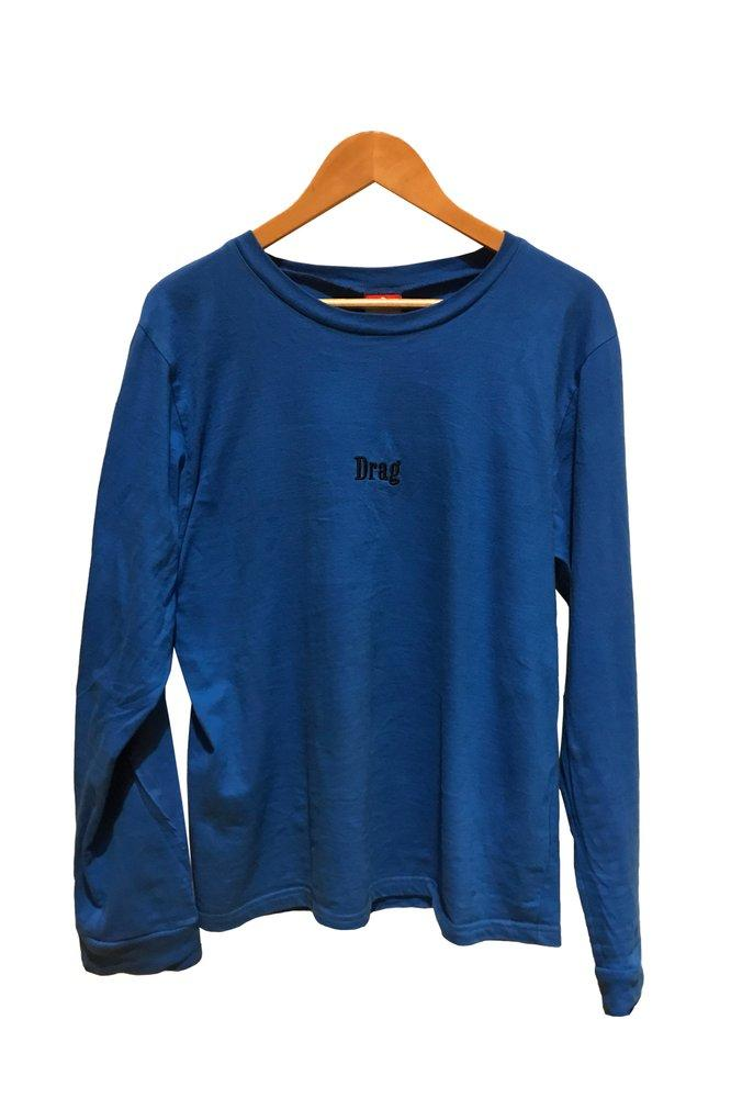 Marlboro Embroidered Long Sleeve Tee - Blue
