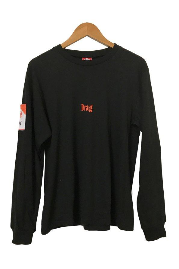 Ciggy Pocket Long Sleeve Tee - Black