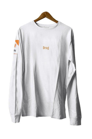 Ciggy Pocket Long Sleeve Tee n-White